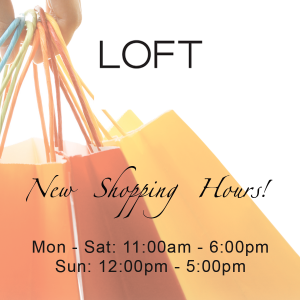 Image of Shopping Bags with Loft's New Hours
