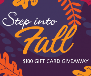 Step into Fall $100 Gift Card Giveaway