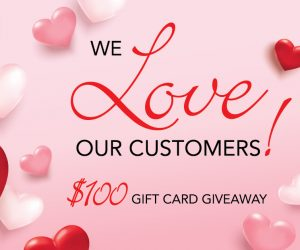 We Love Our Customers! $100 Gift Card Giveaway